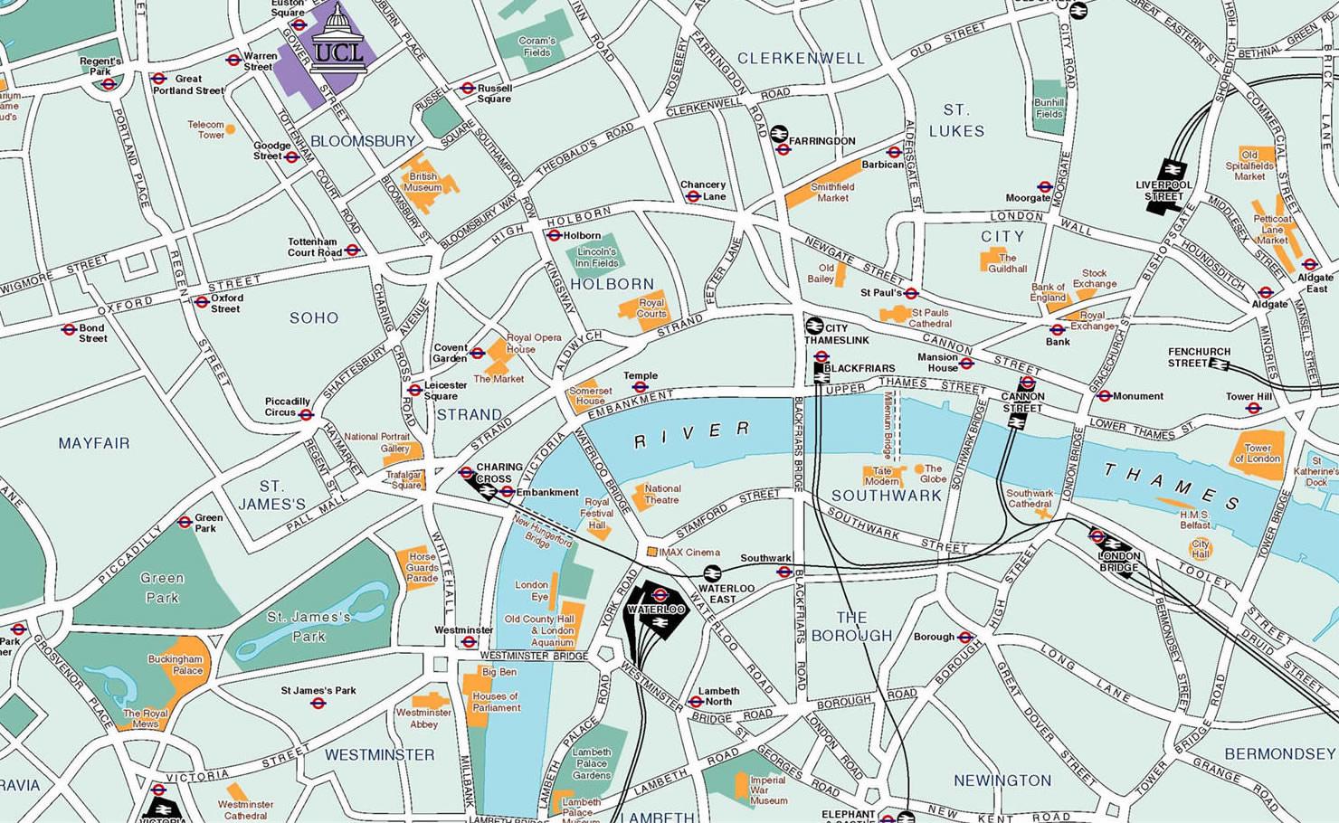 Cartina londra punti di interesse my blog - Londra punti d interesse ...